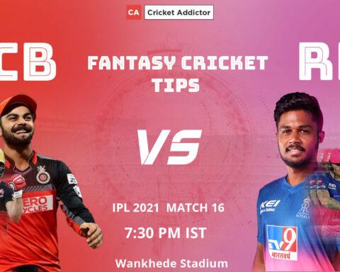 Royal Challengers Bangalore (RCB) vs Rajasthan Royals (RR) Dream11 Prediction, Fantasy Cricket Tips, Playing XI, Pitch Report, Dream11 Team, Injury Update of VIVO IPL 2021.