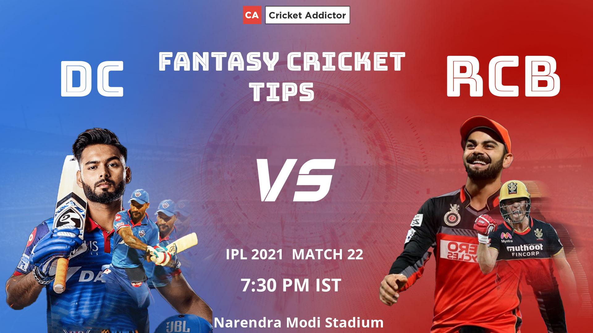 Delhi Capitals (DC) vs Royal Challengers Bangalore (RCB) Dream11 Prediction, Fantasy Cricket Tips, Playing XI, Pitch Report, Dream11 Team, Injury Update of VIVO IPL 2021.