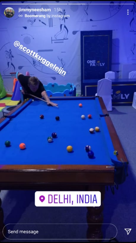 Scott Styris in MI game room (Photo-Instagram)