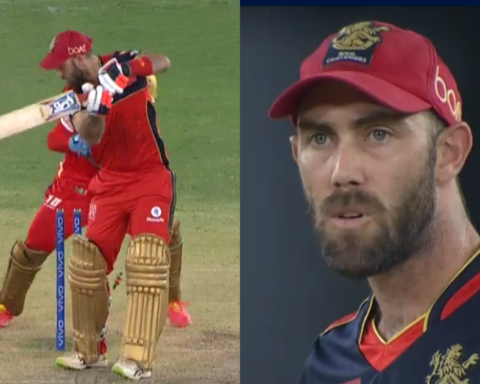 Watch: Glenn Maxwell Refuses To Go Back To The Dugout After Being Clean Bowled By Harpreet Brar
