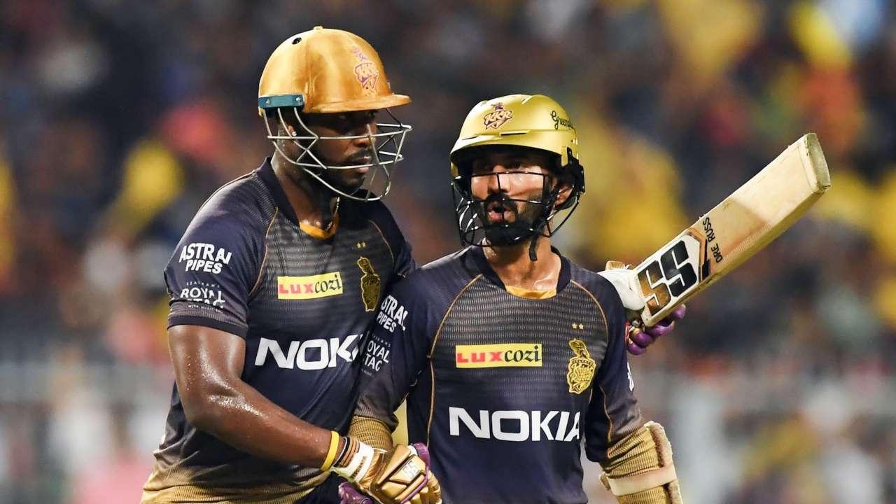 Andre Russell and Dinesh Karthik, Kolkata Knight Riders (KKR)