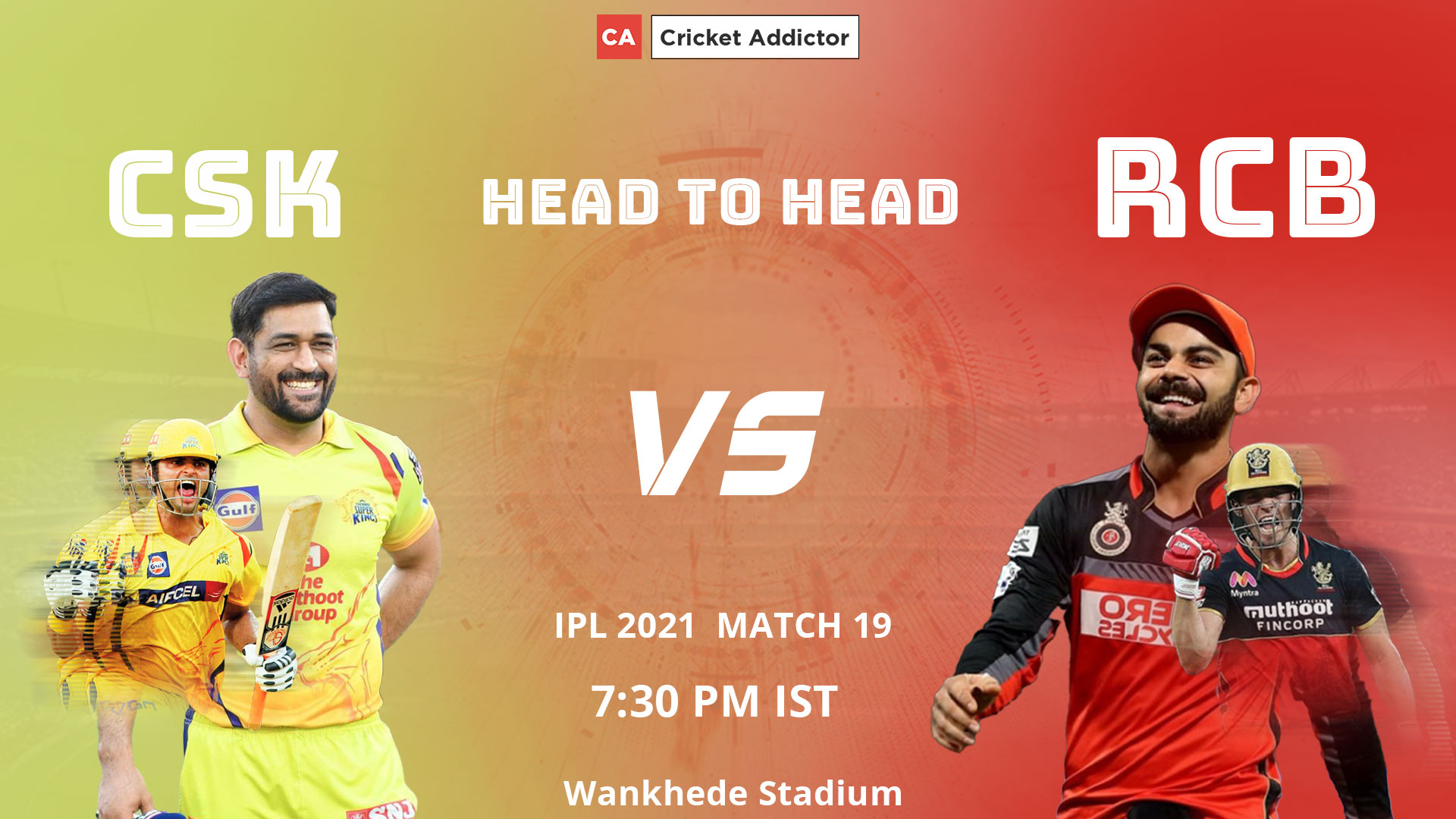 Royal Challengers Bangalore, Chennai Super Kings, CSK, RCB, CSK vs RCB, IPL 2021, Head-to-Head
