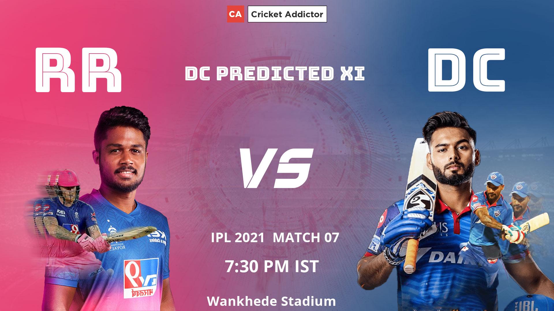 IPL 2021, Delhi Capitals, RR vs DC, predicted playing XI, playing XI