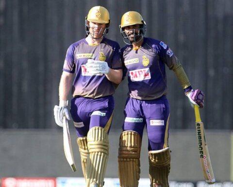 Dinesh Karthik and Eoin Morgan for KKR (Photo-BCCI-IPL)