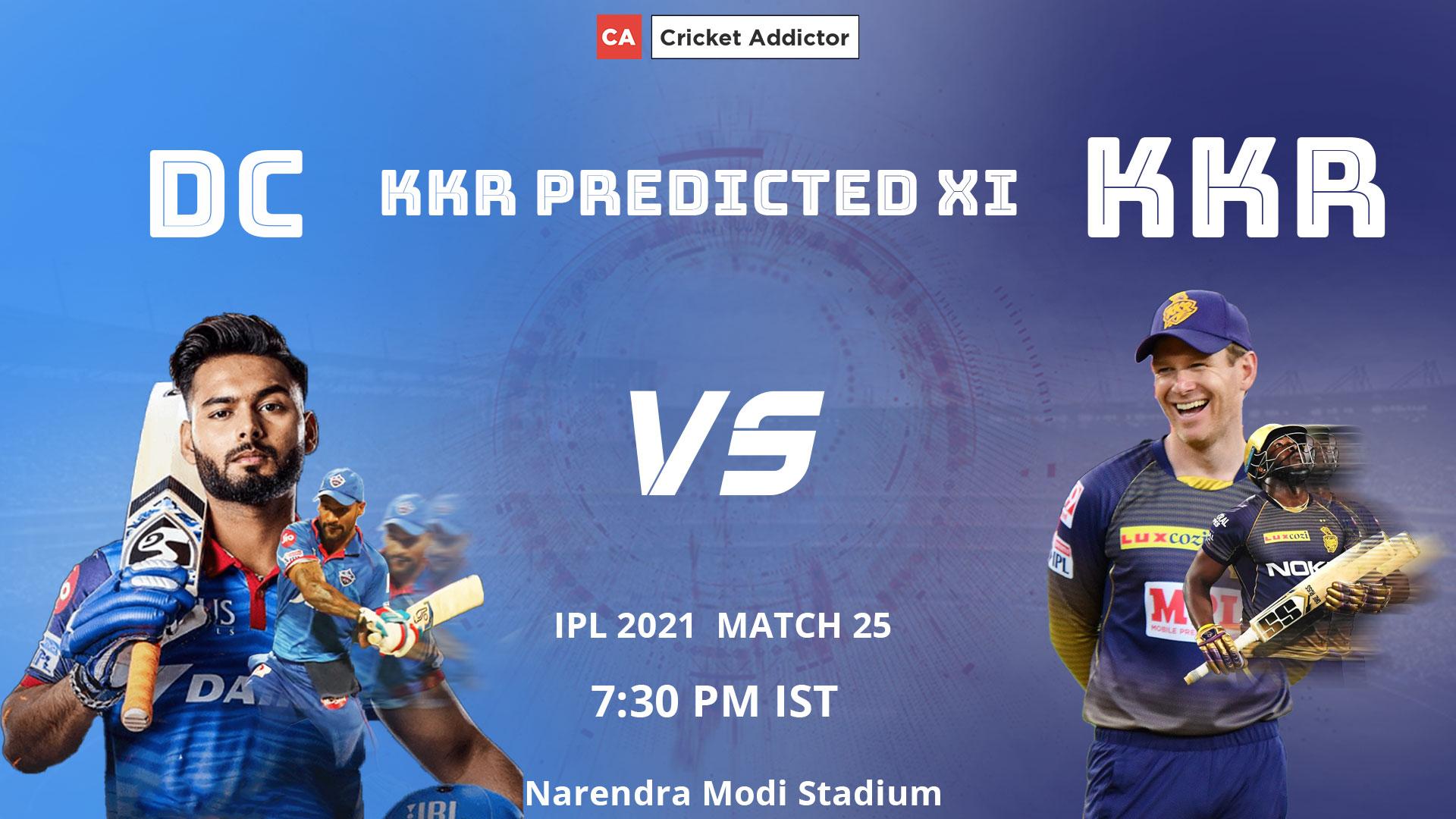 IPL 2021, Kolkata Knight Riders, KKR, predicted playing XI, playing XI, DC vs KKR