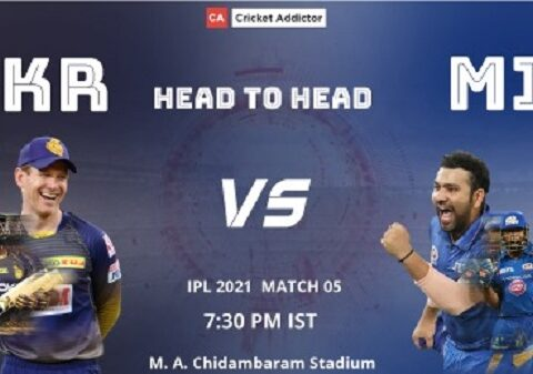 IPL 2021, Kolkata Knight Riders, Mumbai Indians, KKR vs MI, Head-to-Head