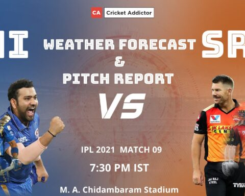IPL 2021, Mumbai Indians, SunRisers Hyderabad, MI vs SRH, Weather, Pitch, Chennai, Chepauk