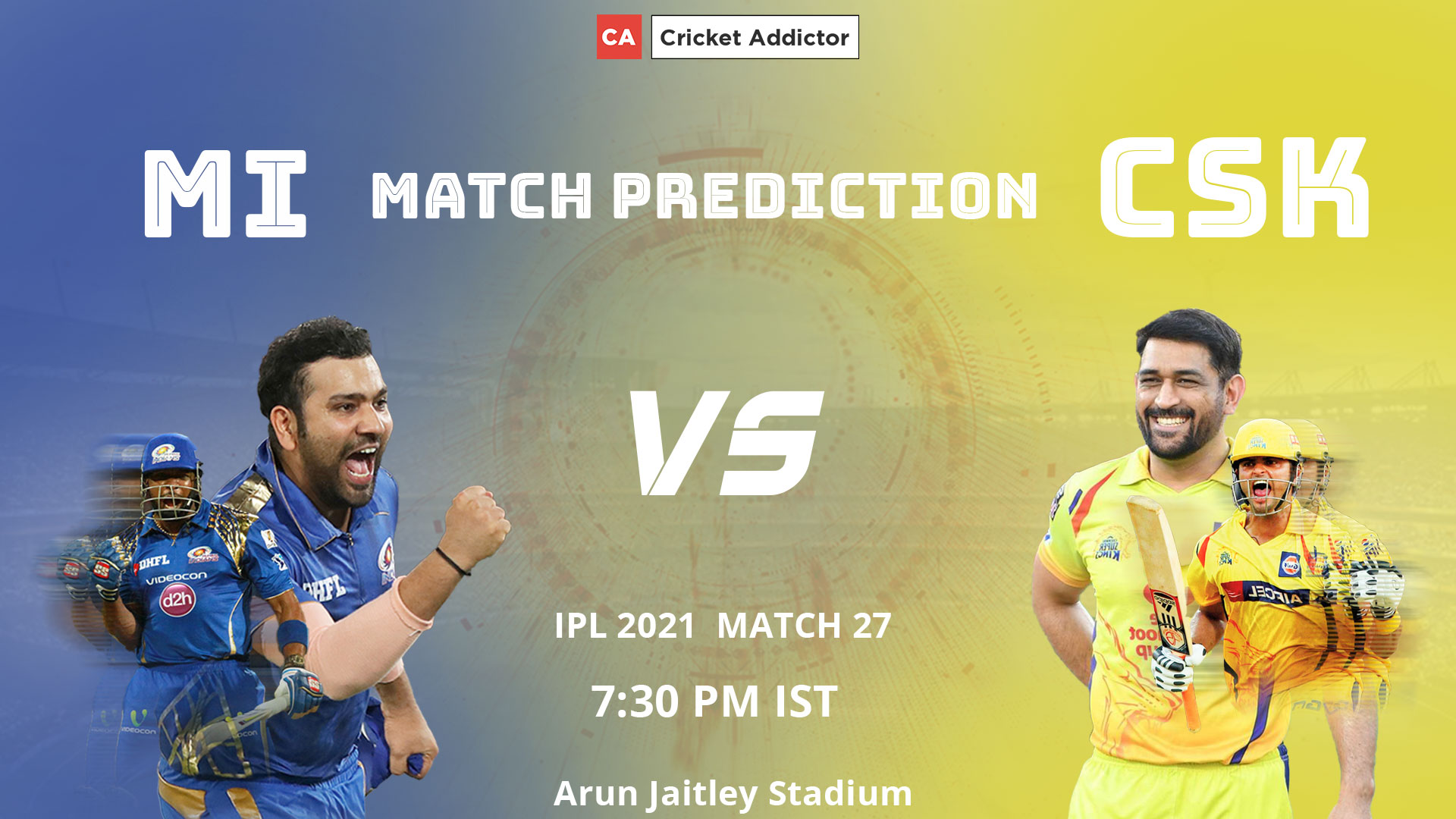IPL 2021, MI vs CSK, Match Prediction, Winner, Most Runs, Most Wickets