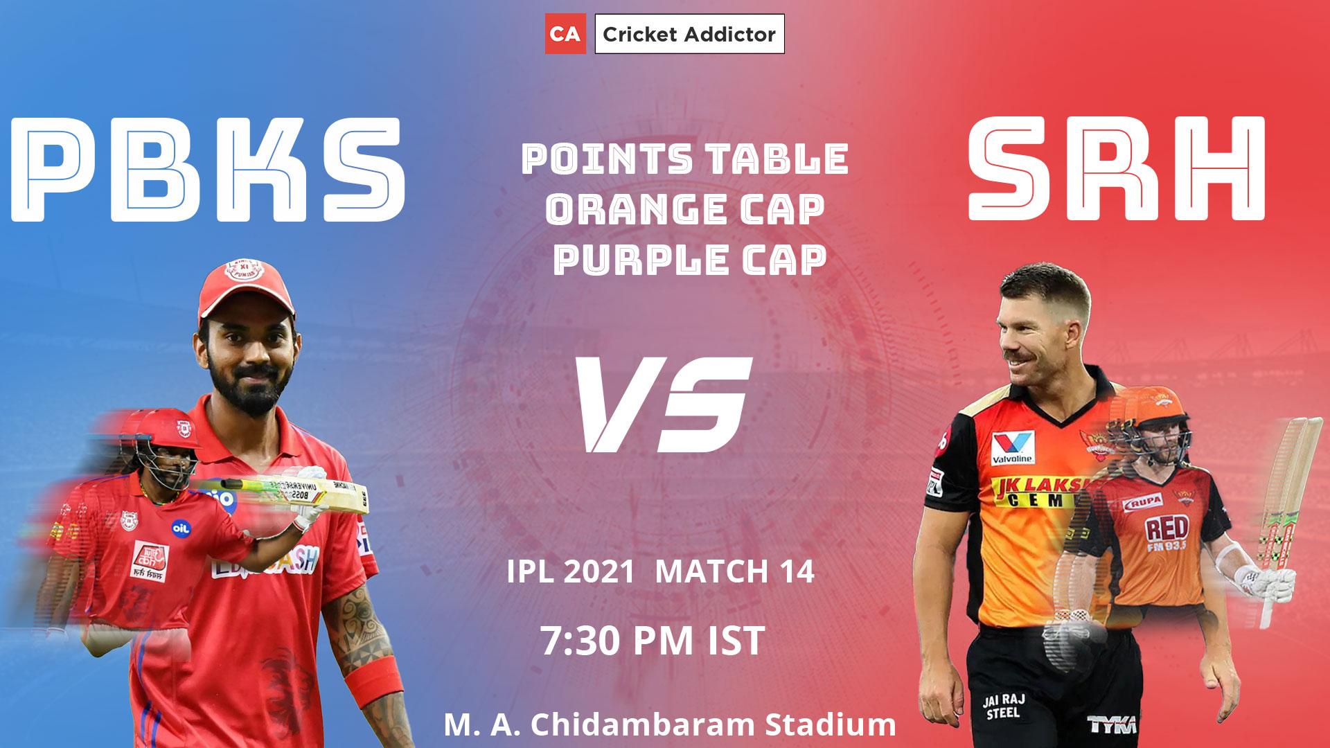 IPL 2021, Points Table, Orange Cap, Purple Cap