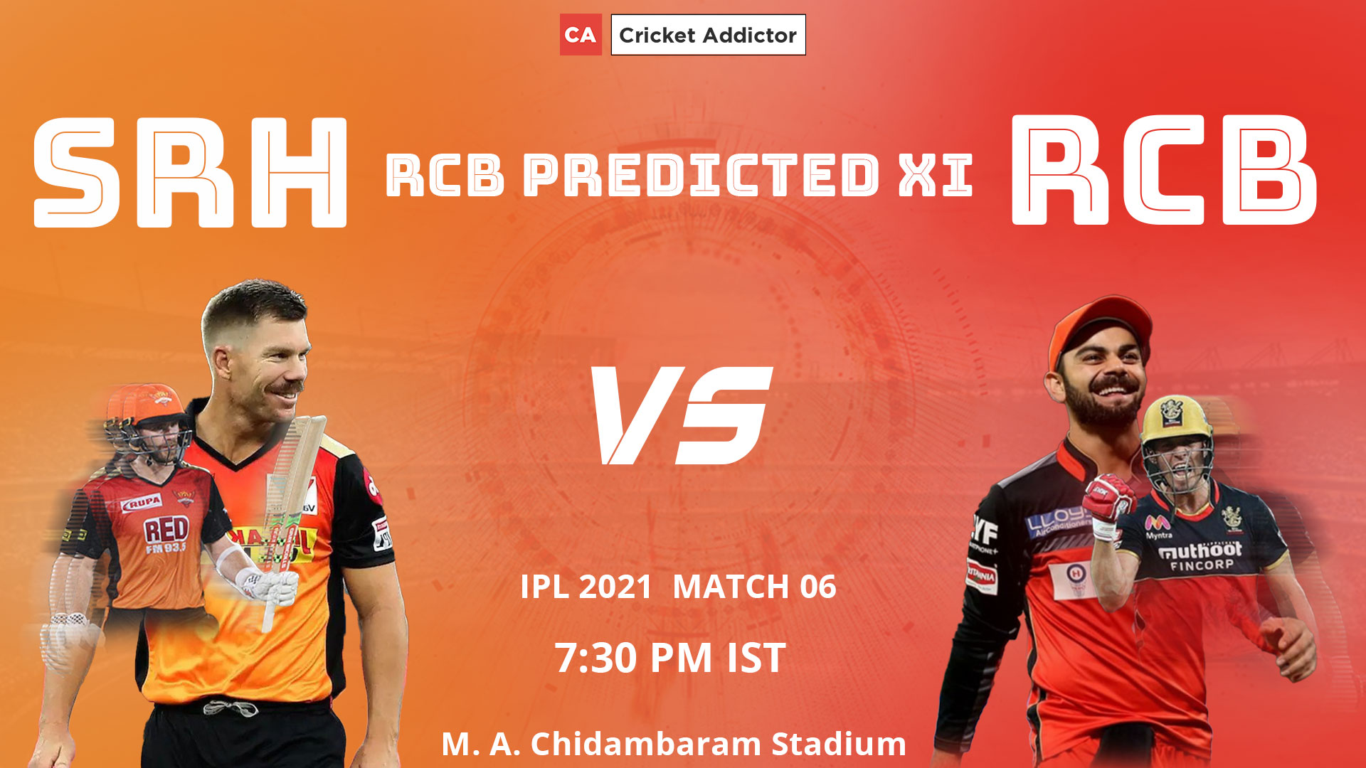 IPL 2021, RCB, Royal Challengers Bangalore, predicted playing XI