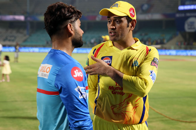 Risahbh Pant and MS Dhoni