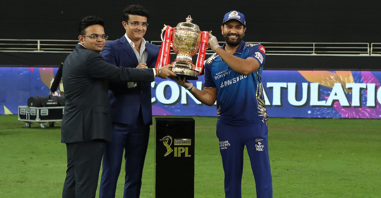 Rohit Sharma With IPL 2020 Trophy