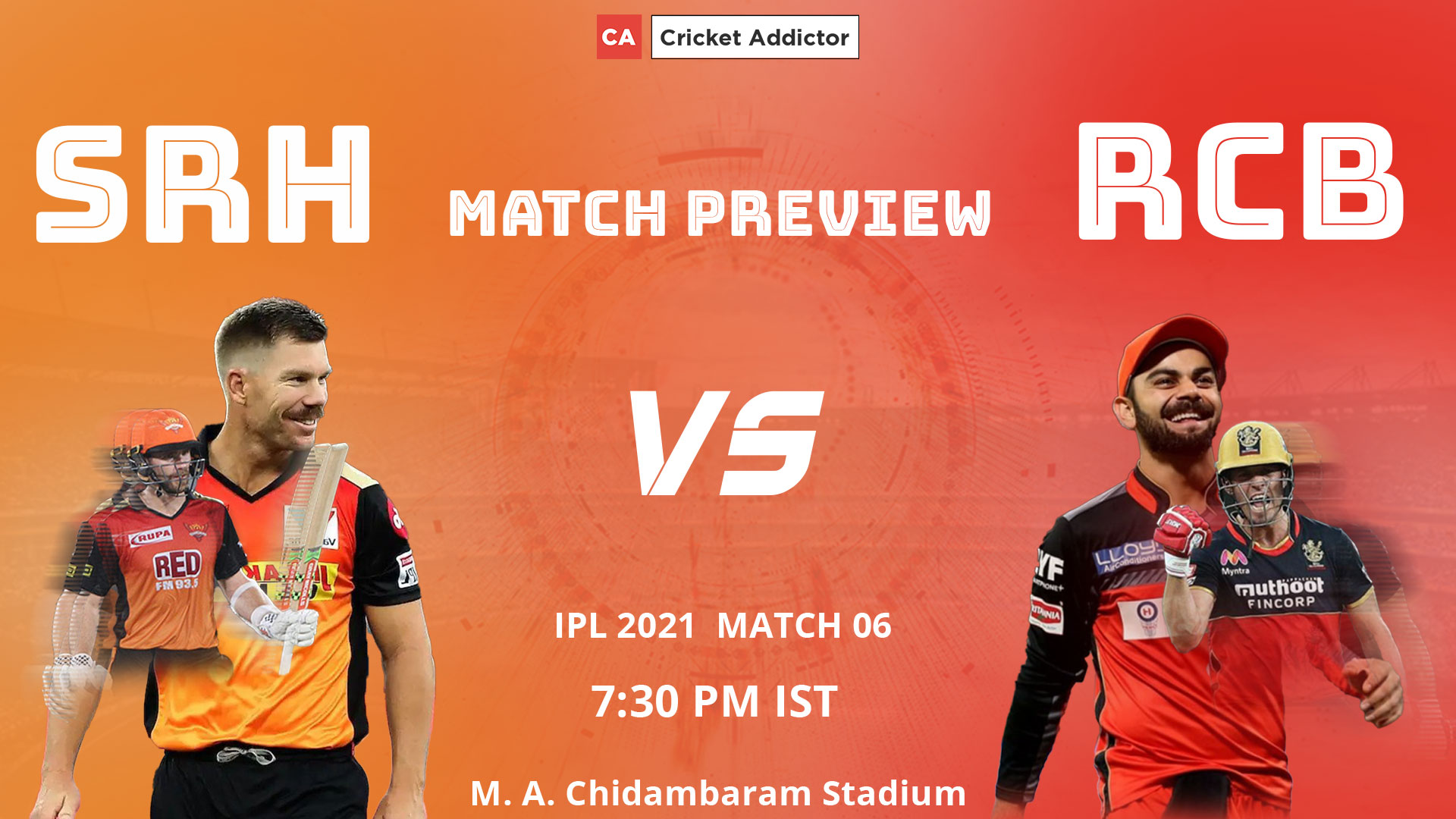 IPL 2021, Royal Challengers Bangalore, SunRisers Hyderabad, SRH, RCB, SRH vs RCB, Match Preview, Prediction