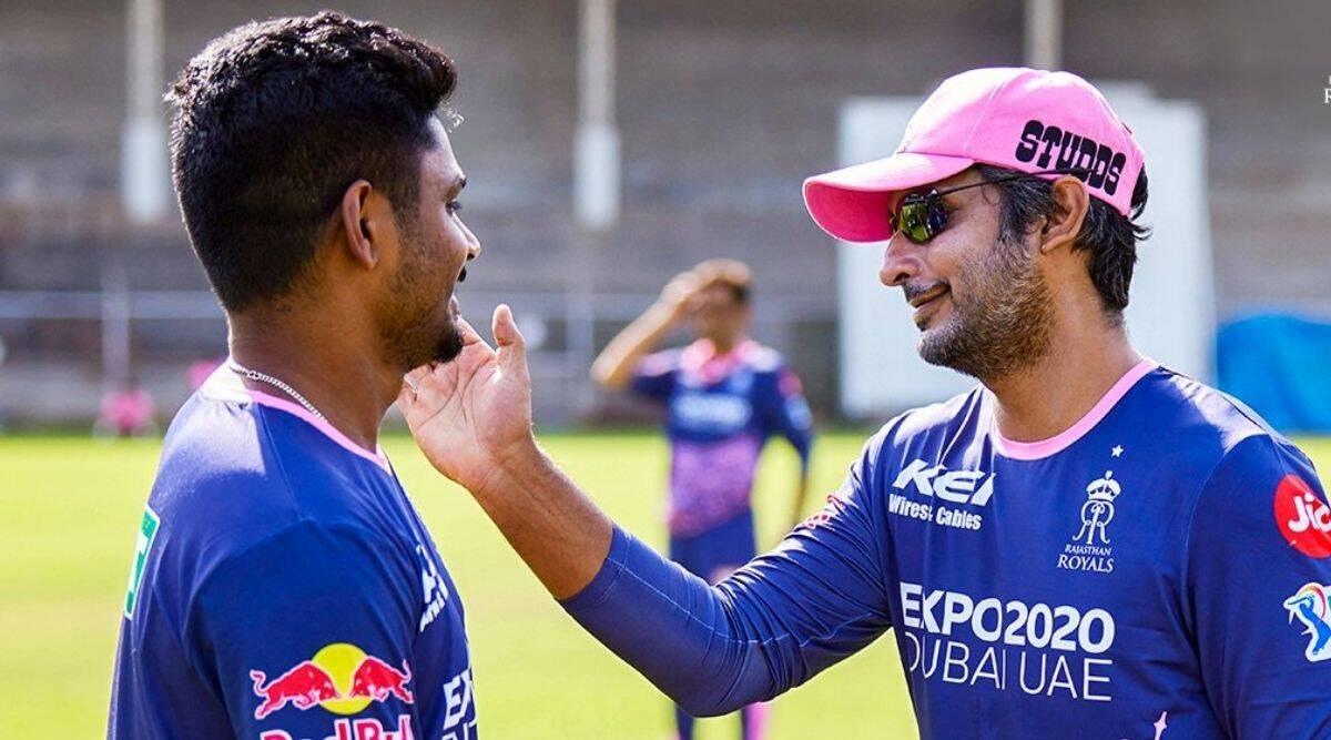 Sanju Samson and Kumar Sangakkara