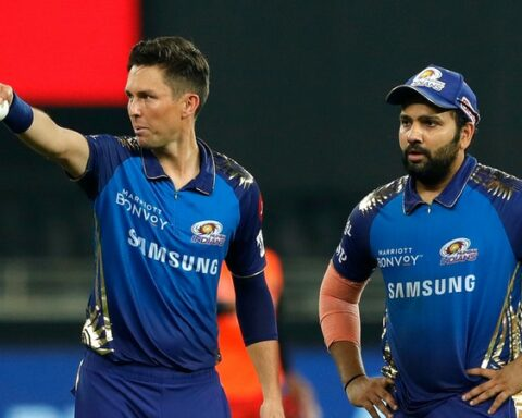 Trent Boult and Rohit Sharma