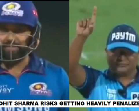 Watch: Rohit Sharma Takes A Nasty Jibe At The On-Field Umpire, Risks Getting Fined