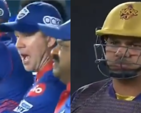 Watch: Ricky Ponting Comes Up With A Hilarious Reaction After Lalit Yadav Gets Through The Gates Of Sunil Narine