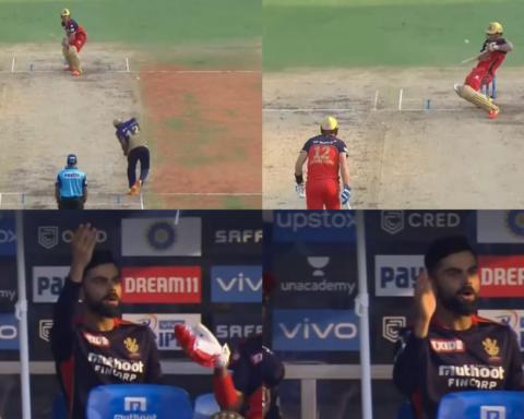 Virat Kohli Reaction AB de Villiers Audacious Shot