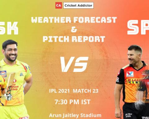 IPL 2021, CSK vs SRH, Weather, Pitch