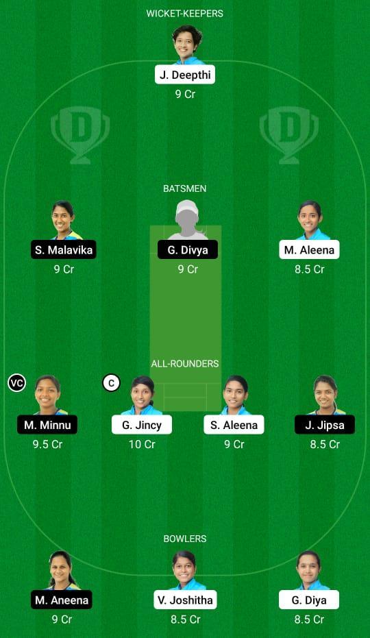 AMB vs EME Dream11 Prediction Fantasy Cricket Tips Dream11 Team Kerala Women's T20