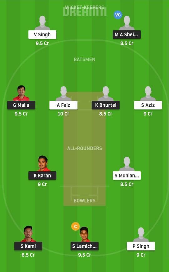 NEP vs MAL Dream11 Prediction Fantasy Cricket Tips Dream11 Team Nepal Tri Nations Cup