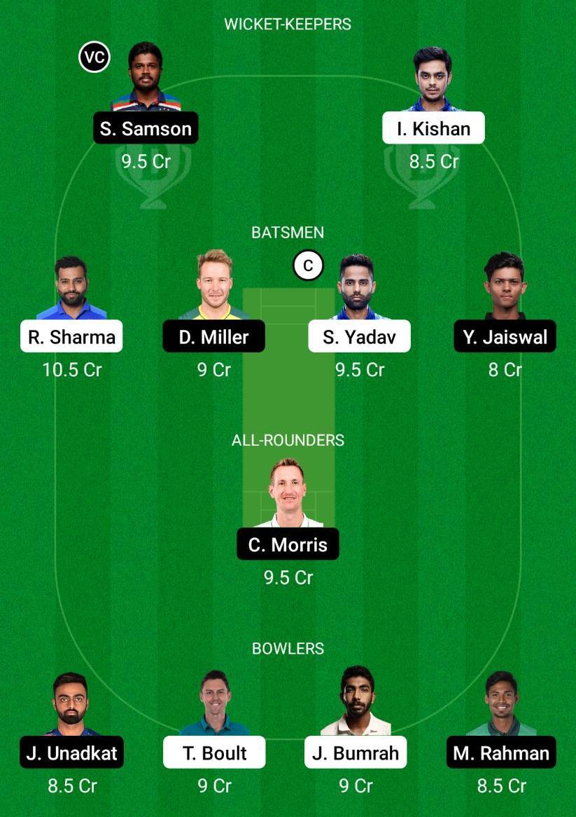 MI vs RR Dream11 Prediction Fantasy Cricket Tips Dream11 Team VIVO IPL 2021