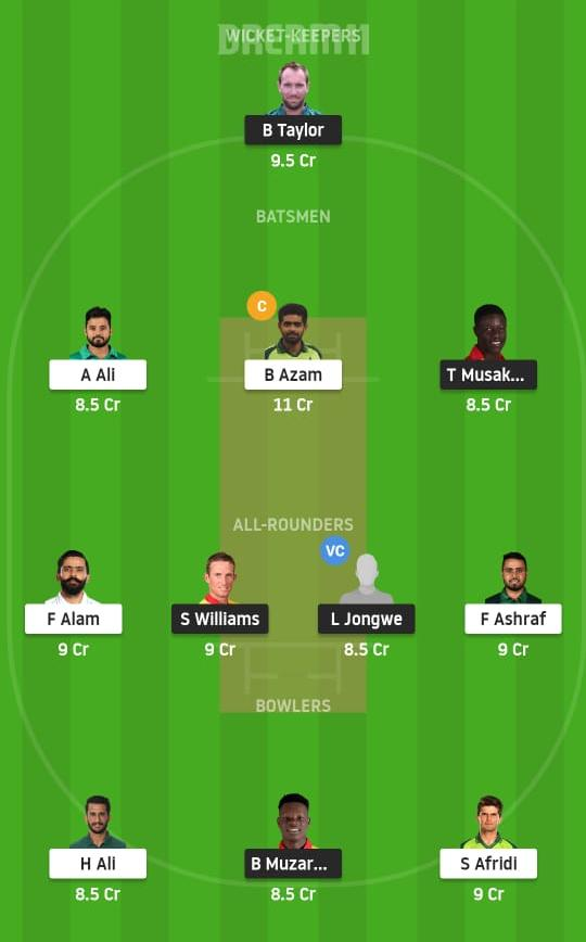 Zimbabwe vs Pakistan 1st Test Dream11 Prediction Fantasy Cricket Tips Dream11 Team