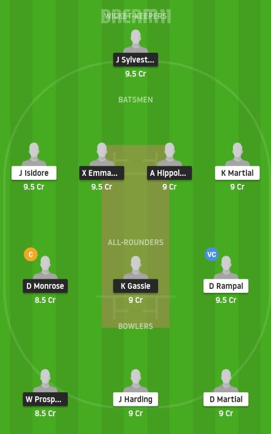 SSCS vs VFSS Dream11 Prediction Fantasy Cricket Tips Dream11 Team St. Lucia T10 Blast