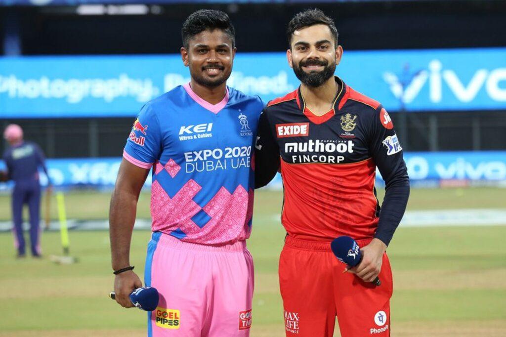RCB skipper Virat Kohli and RR skipper Sanju Samson. (Photo: BCCI)