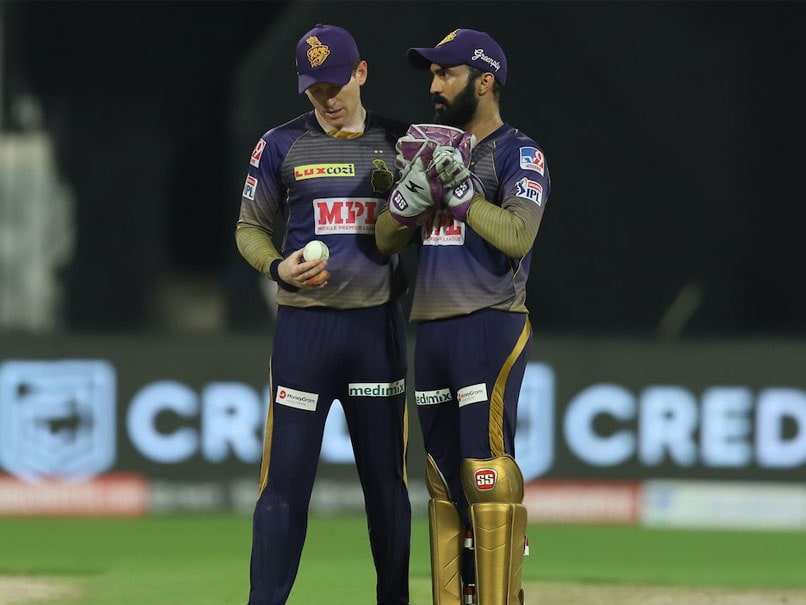 Dinesh Karthik and Eoin Morgan