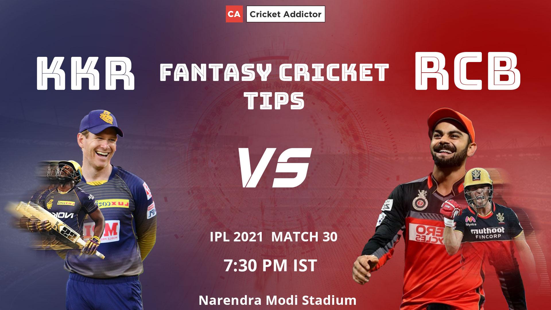 Kolkata Knight Riders (KKR) vs Royal Challengers Bangalore (RCB) Dream11 Prediction, Fantasy Cricket Tips, Playing XI, Pitch Report, Dream11 Team, Injury Update of VIVO IPL 2021