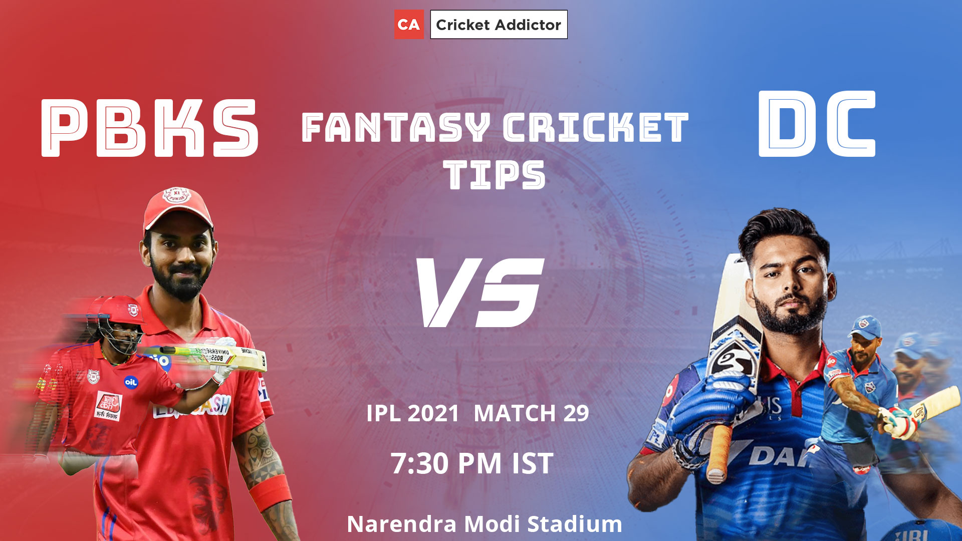 Punjab Kings (PBKS) vs Delhi Capitals (DC) Dream11 Prediction, Fantasy Cricket Tips, Playing XI, Pitch Report, Dream11 Team, Injury Update of VIVO IPL 2021.