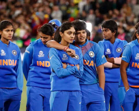 Indian Women's Team during the 2020 T20 World Cup in Australia (Photo-Getty)