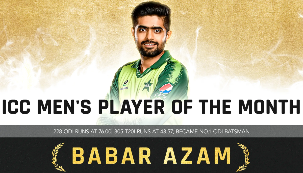 """Pakistan Skipper Babar Azam Wins """"ICC Player Of The Month"""" Award For April 2021"""