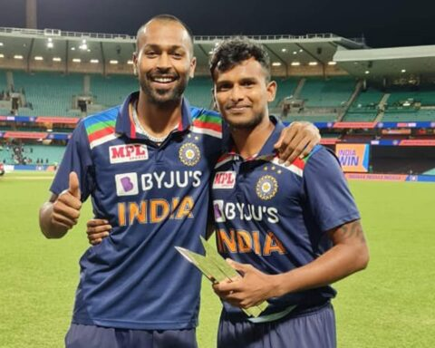 Hardik Pandya and T Natarajan