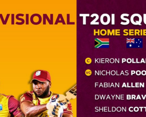 West Indies Provisional Squad Against South Africa, Australia, and Pakistan