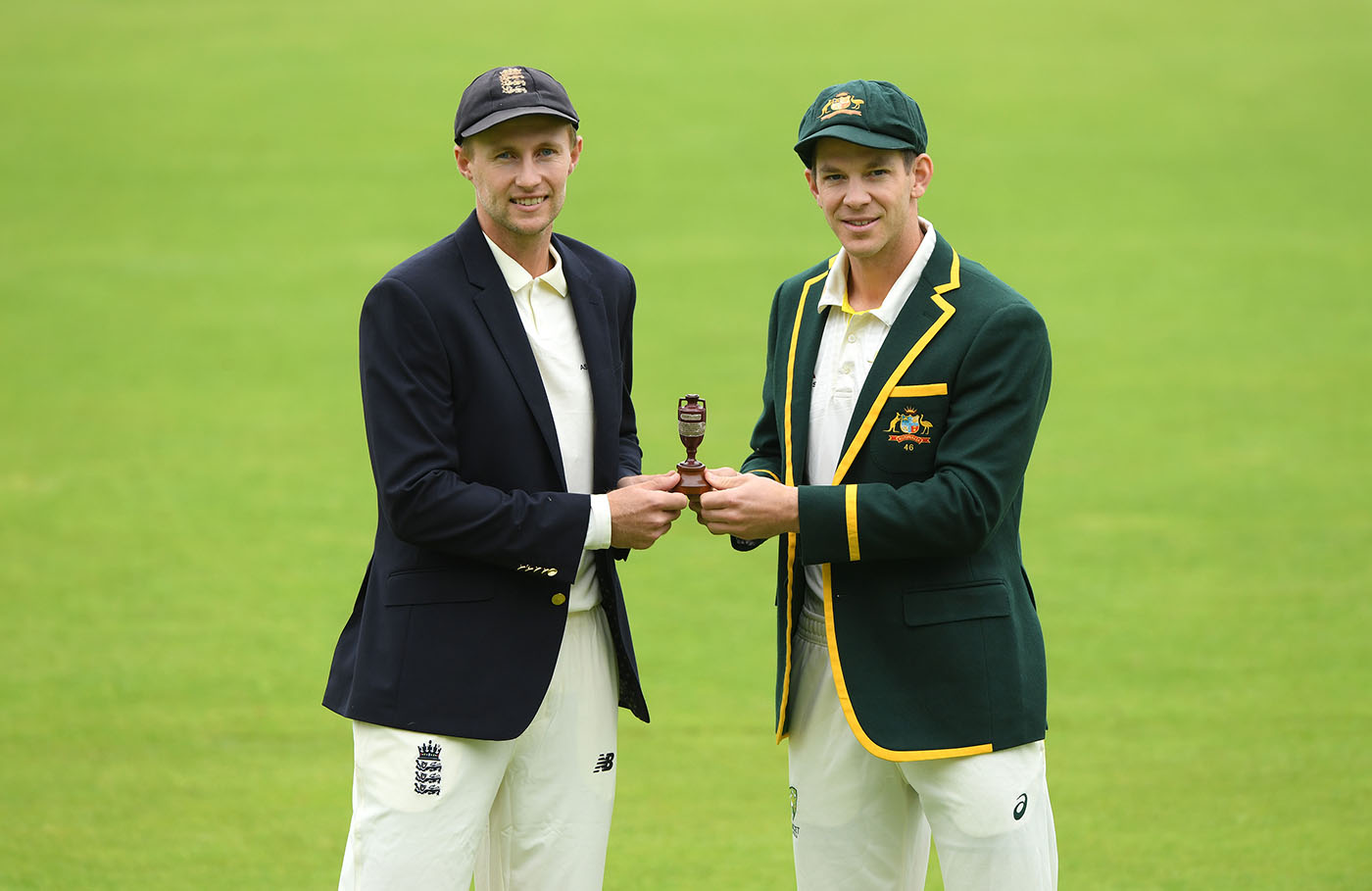 Joe Root and Tim Paine in Ashes 2019