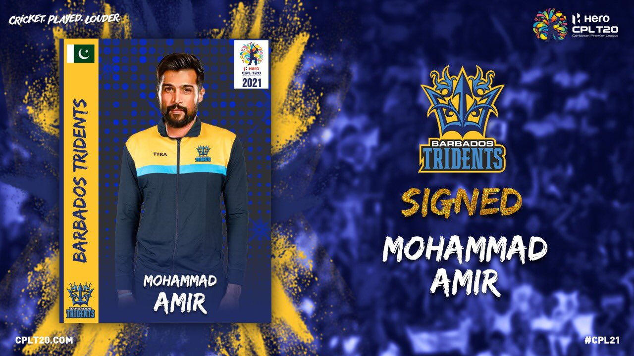 CPL 2021: Mohammad Amir Joins Barbados Tridents For The Season