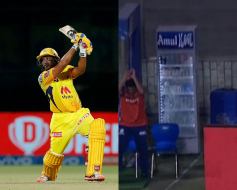 Watch- Ambati Rayudu Breaks The Refrigerator Glass With His Six Off Jasprit Bumrah