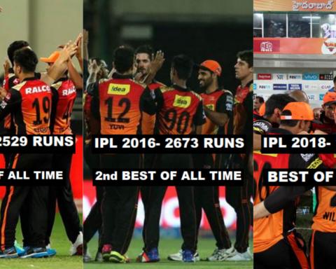 Season Wise Break Up Of Runs Scored By Sunrisers Hyderabad (SRH) In The IPL