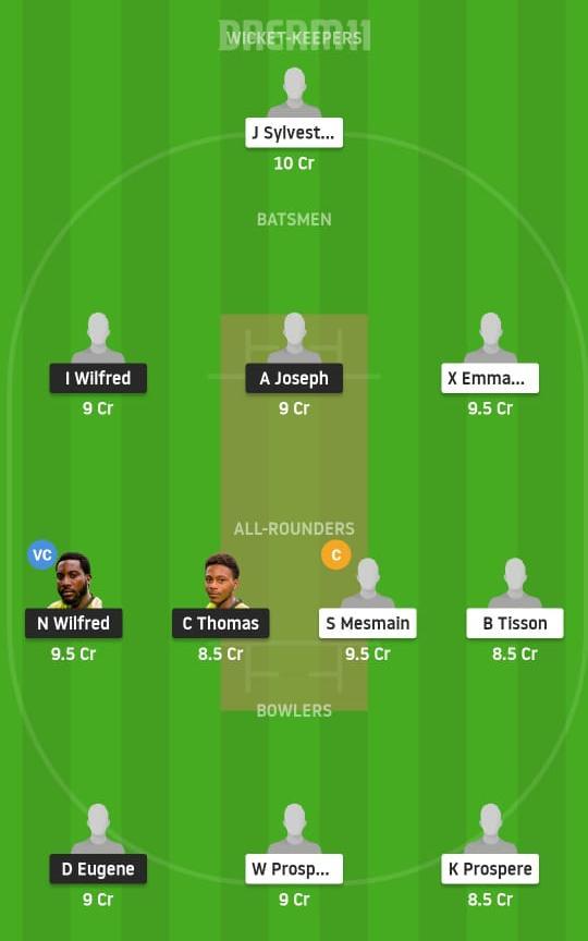 BLS vs SSCS Dream11 Prediction Fantasy Cricket Tips Dream11 Team St Lucia T10 Blast