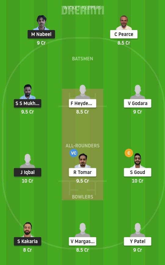 BCC vs VCC Dream11 Prediction Fantasy Cricket Tips Dream11 Team ECS T10 Prague