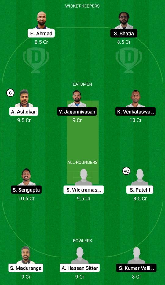 PCK vs PSV Dream11 Prediction Fantasy Cricket Tips Dream11 Team ECS T10 Prague