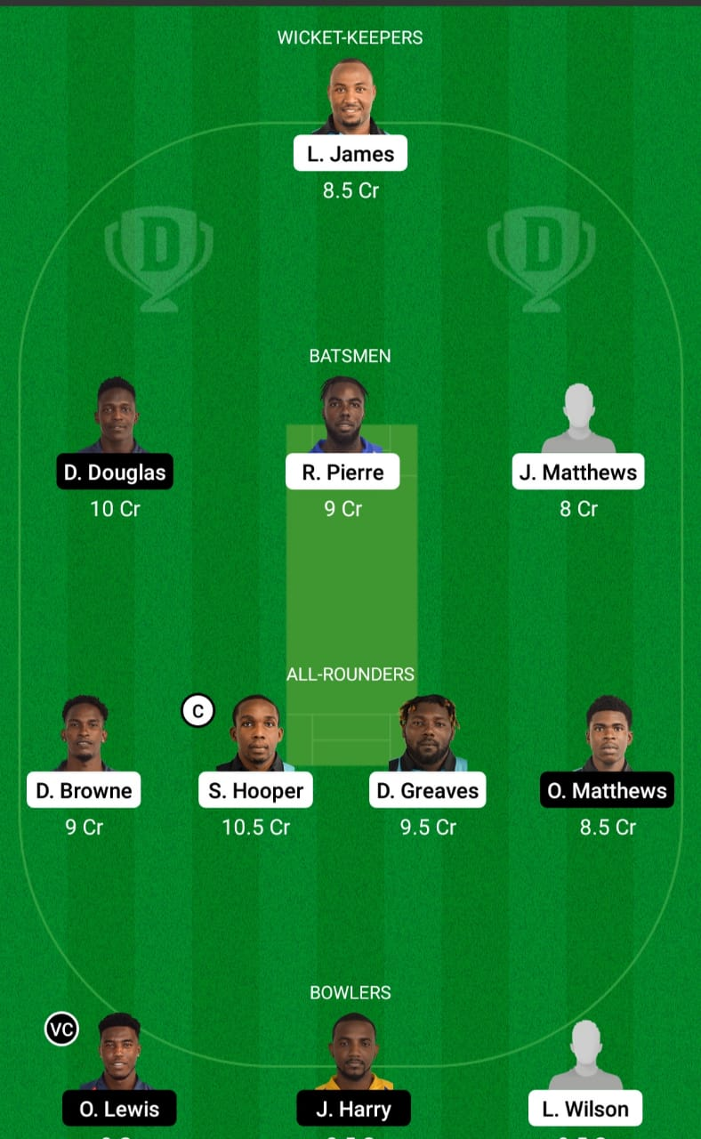 DVE vs LSHJ Dream11 Prediction Fantasy Cricket Tips Dream11 Team Vincy Premier League
