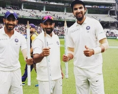 Mohammed Shami, Jasprit Bumrah and Ishant Sharma