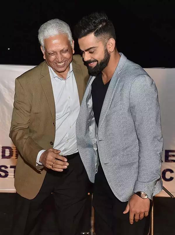 Mohinder Amarnath and Virat Kohli (Photo-Twitter)