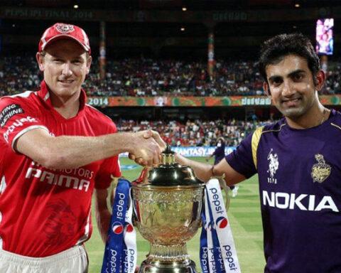 George Bailey and Gautam Gambhir in IPL 2014 final