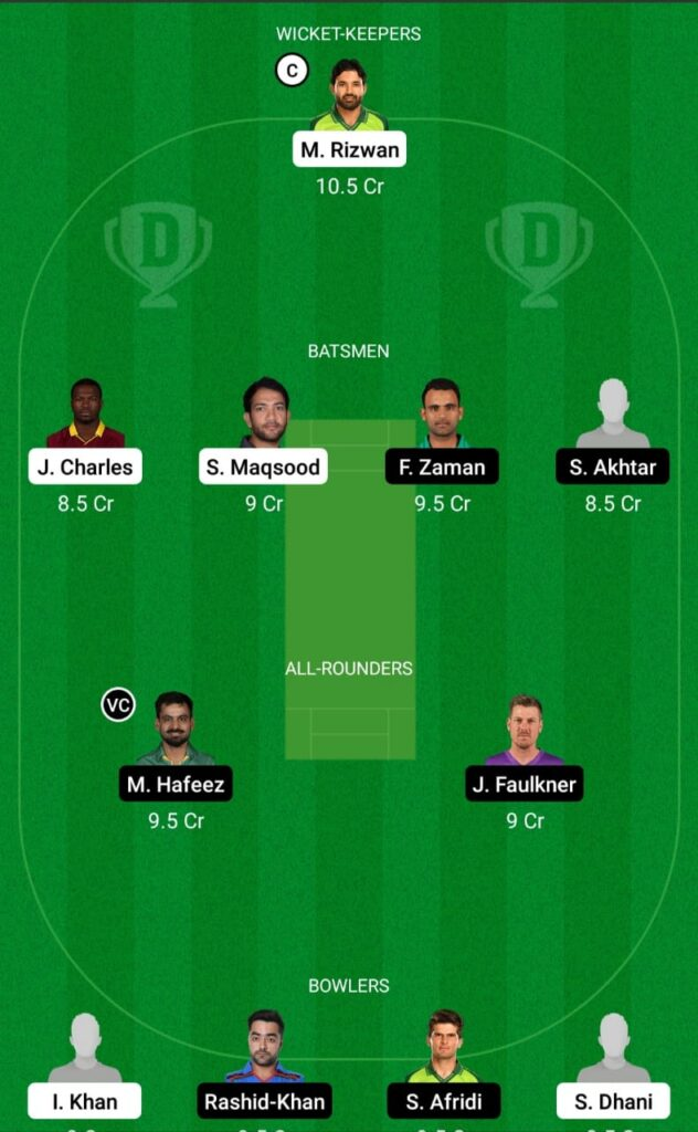 MUL vs LAH Dream11 Prediction Fantasy Cricket Tips Dream11 Team Pakistan Super League