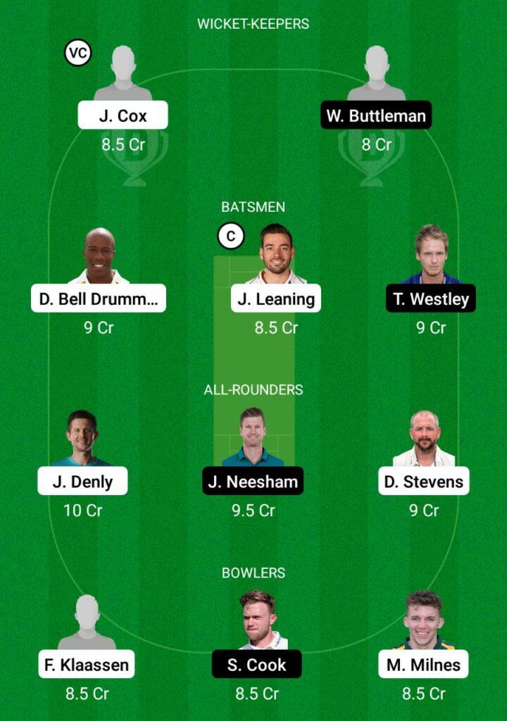 KET vs ESS Dream11 Prediction Fantasy Cricket Tips Dream11 Team English T20 Blast