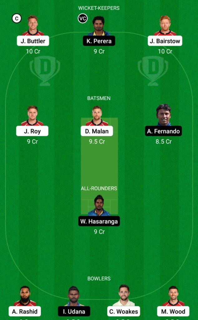 England vs Sri Lanka Dream11 Prediction Fantasy Cricket Tips Dream11 Team